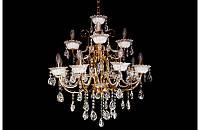 Люстра хрустальная на двенадцать ламп LS1545-8+4