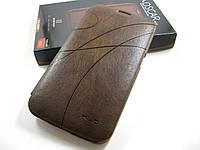 Кожаный чехол Samsung Galaxy Mega 6.3 i9200 (коричневый)