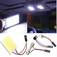Лампа светодиодная для багажника, салона 24 светодиода с тремя переходниками