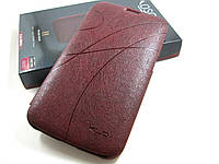 Кожаный чехол Samsung Galaxy Mega 6.3 i9200 (бордовый)