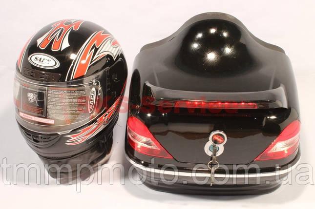 Кофра Мерседес с шлемом чёрная, фото 2
