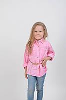 Нежная детская рубашка розового цвета 1203
