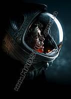 Картина 40х60 см Чужой Alien Героиня в шлеме