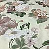 Бязь Люкс с крупными пастельными цветами на молочном фоне