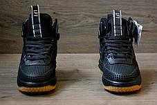 Мужские кроссовки Nike lunar force 1 duckboot черные топ реплика, фото 2