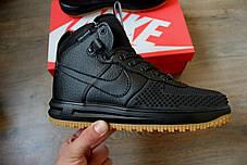 Мужские кроссовки Nike lunar force 1 duckboot черные топ реплика, фото 3