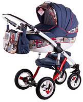 "Дитяча коляска Adamex Aspena World Collection ""British Design Red Blue"""