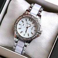 Часы наручные женские Chanel Flora белые, недорогие часы
