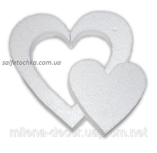 "Пенопластовая форма ""Сердце в сердце"" (20 см.)"