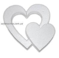 "Пенопластовая фигурка ""Сердце в сердце"" (15 см.)"