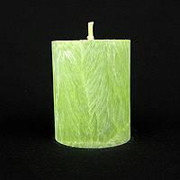 Свеча из пальмового воска, зеленая h 70, Ø 55 мм
