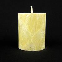 Свеча из пальмового воска, желтая h 70, Ø 55 мм
