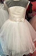 Нежное детское платье для девочки Бантик 3310