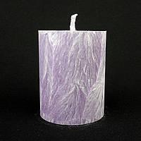 Свеча из пальмового воска, фиолетовая h 70, Ø 55 мм