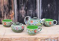 """Чайний набір """"Вінок"""" зелений, фото 1"""