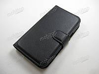 Кожаный чехол Samsung Galaxy J1 J100h (черный), фото 1