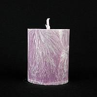 Свеча из пальмового воска, сиреневая h 70, Ø 55 мм