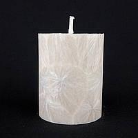 Свеча из пальмового воска, пудровая h 70, Ø 55 мм