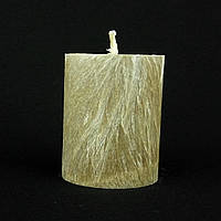 Свеча из пальмового воска, коричневая h 70, Ø 55 мм