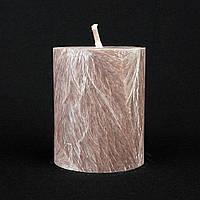 Свеча из пальмового воска, сливовая h 70, Ø 55 мм