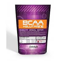 BCAA + L-Glutamine OstroVit, 1000 грамм (со вкусом)