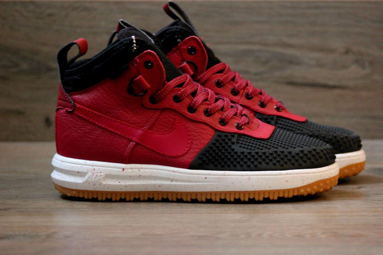 601625d78efb Мужские кроссовки Nike lunar force 1 duckboot красные топ реплика -  Интернет-магазин обуви и