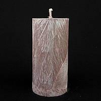 Свеча из пальмового воска, сливовая h 110, Ø 55 мм