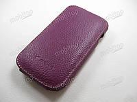 Кожаный чехол Melkco Samsung i8190 S3 mini (фиолетовый)