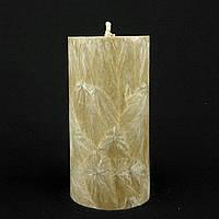 Свеча из пальмового воска, коричневая h 110, Ø 55 мм