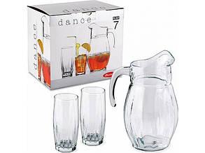 Набор стаканов с кувшином 1+6 Dance