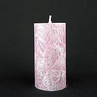 Свеча из пальмового воска, сиреневая h 110, Ø 55 мм
