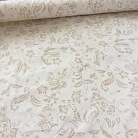 Бязь Люкс з дрібним візерунком на бежевому фоні, тканина-компаньйон, фото 1
