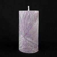 Свеча из пальмового воска, фиолетовая h 110, Ø 55 мм