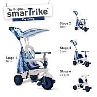 Велосипед  3-х колесный с ручкой и корзиной  Smart Trike Spirit 4 в 1 голубой