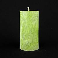 Свеча из пальмового воска, зеленая h 110, Ø 55 мм