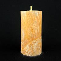 Свеча из пальмового воска, оранжевая h 110, Ø 55 мм