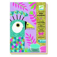 Набор для творчества Djeco рисование песком Ослепительные птицы (DJ08663)