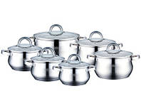 Набор посуды ( Набор кастрюль ) 12 предметов PETERHOF PH-15235