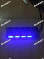USB Hub 4 порта, Хаб usb  на четыре порта с подсветкой белого цвета., фото 2