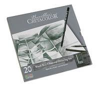 Набор карандашей для рисунка Black Box, 20 шт., мет. упаковка, Cretacolor, Киев