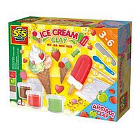 Набор для творчества SES незасыхающая масса для лепки Мороженое 4 цвета (0444S)