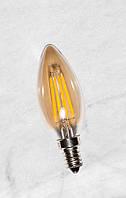 Лампа LED с сапфировой нитью C35 4W Amber