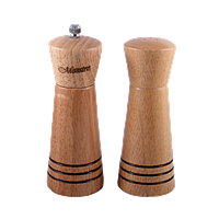 Набор из деревянной солонки и мельницы для перца с декорированной поверхностью MR-1615 Maestro