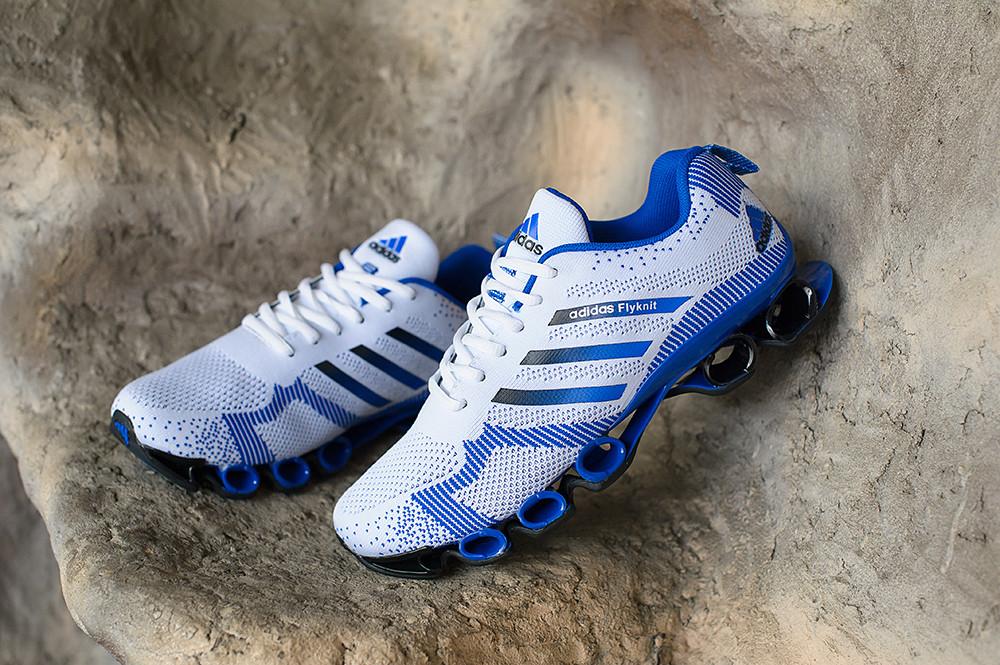d3e48465 Кроссовки Adidas bounce flyknit white-blue, цена 1 850 грн., купить в  Харькове — Prom.ua (ID#465004926)