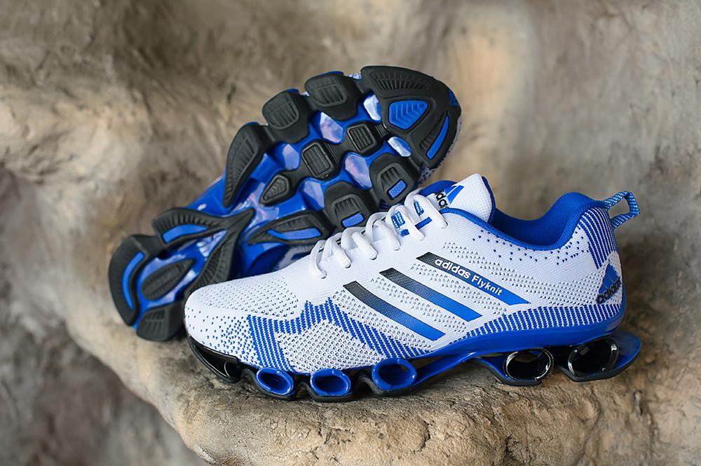 3d985602 Кроссовки Adidas bounce flyknit white-blue - Интернет-магазин