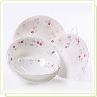 """Набор посуды 19 пр.""""Розовые цветы"""" стеклокерамика MR-30056-19S"""