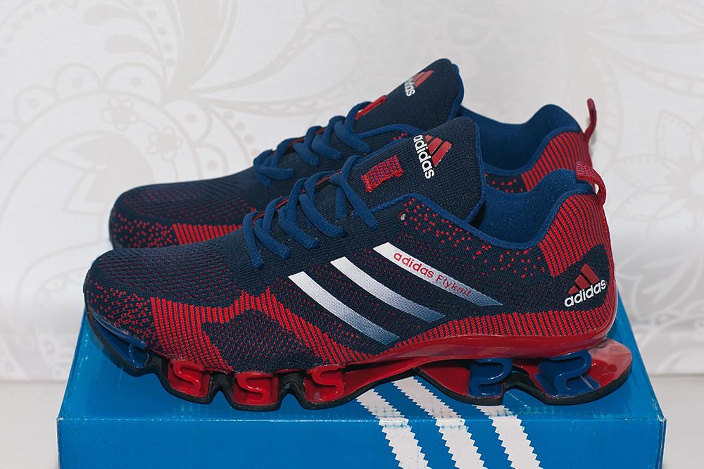 35d4d64a Кроссовки Adidas Bounce Flyknit blue-red, цена 1 850 грн., купить в Харькове  — Prom.ua (ID#465006485)