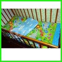 Белье постельное Optovik детское (Зоопарк)Бязь