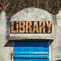 Вывеска Library