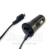Автомобильная зарядка для телефона 2в1 microUSB + USB выход Samsung, фото 1
